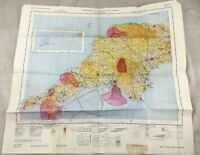 1966 Vintage Militare Map Inghilterra Sud Occidente Topographical Volo Carta Raf