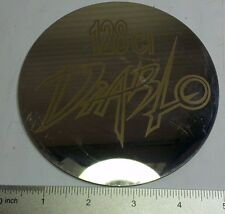 """Viper Motorcycle 5"""" x 3/64"""" Chrome on Stainless Circle Plate """"128 ci Diablo"""""""