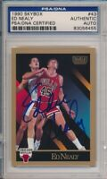 1990 Skybox Ed Nealy Signed Card #43 PSA/DNA Auto Chicago Bulls #6455