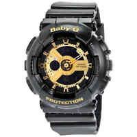 Casio Baby G Black Resin Ladies Watch BA110-1A