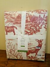 ALPINE TOILE DUVET COVER FULL-QUEEN 92X88 ORGANIC COTTON POTTERY BARN