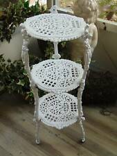 "antique vintage Cast Iron Plant Stand ornate fancy 3 tier victorian 26"" tall"