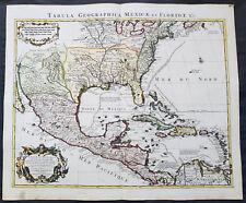 1722 Claude Delisle Original Antique Map of North America & The Gulf of Mexico