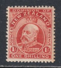 New Zealand SG 394 Scott 139 VF MH OG 1910 1/- Vermilion Edward VII  SCV $75
