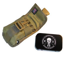 Esee Accessory Pouch Tin Khaki fits Model 5 or 6 or Laser Strike Knife Sheath