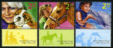 Israel 1786-1788 tabs, MNH. Animal Assisted Therapy. Dog, Horse, Dolphin, 2009