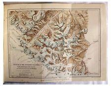 1890 Freshfield - RUSSIAN CAUCASUS - Pre-Book - Color Map - Original Wraps - 05