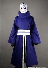 NARUTO Tobi Obito Madara Uchiha Cosplay Helmet Costume Full Set Ninja Outfit