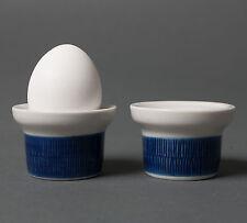rorstrand egg cups koka mid century swedish stoneware retro art pottery blue