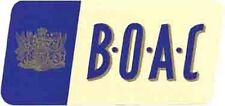 BOAC Airlines  (Britain) 1950's  Vintage-Looking Travel Sticker / Luggage Label