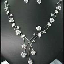 Fabulous** Crystal & Rose Necklace Set IDEAL GIFT*76*