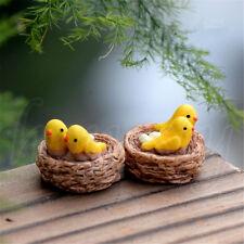 2XCute Resin Mini Bird Nest Miniature Landscape For Home Garden Decoration