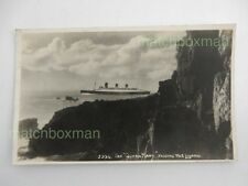 QUEEN MARY PASSING THE LIZARD PRINTED POSTCARD PHOTO A H CURE, HELSTON BW05/20