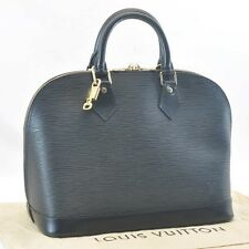 Authentic  Louis Vuitton Epi Alma Black Hand Bag M52142 #sa193