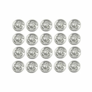 20 Pcs Metal Clothes Sewing Invisible Sew-on Fasteners Press Studs Snap Buttons