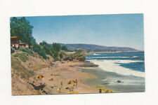 VINTAGE UNUSED UNION 76 GASOLINE POSTCARD OF LAGUNA BEACH CALIFORNIA