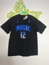 Adidas Orlando Magic Dwight Johnson Black T-Shirt #12 NWT S/S Double Sided B49