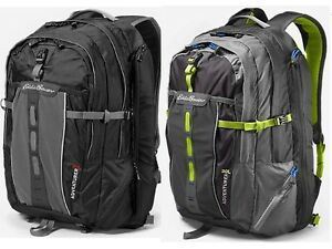 NWT Eddie Bauer Mens Adventurer BackPack 30L Dark Smoke/Black Retaile $90