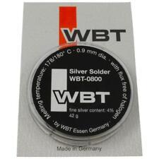 WBT-0800 Silberlötzinn 42g Ø 0,9mm 4% Feinsilber Silver Solder 178/180°C 854268