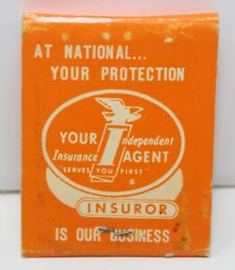 Vintage Matchbook National Insurance Agency Independent Agent Memphis TN 60s 70s