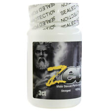 Zeus Male Mens Sexual Supplement Enhancer Bottle 3 Count Pills Capsules
