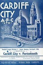 Apr 56 Cardiff City v Porsmouth