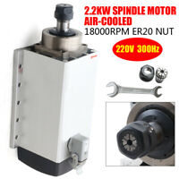 2.2KW Air Cooled Square Spindle Motor ER20 6A 18000rpm For CNC Engraving USA
