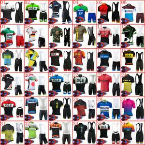 Men Cycling Jersey Bib Shorts Set Bike Clothing Bicycle Short Sleeve Outfit
