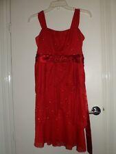 Disorderly Kids, 16, Red elegant dress, girls. P2P - 39 CM, Length - 70 CM
