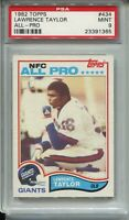 1982 Topps Football 434 Lawrence Taylor Rookie Card RC Graded PSA MINT 9 Giants