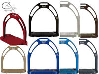 GENUINE Aluminium JIN STIRRUPS - Light Weight All Colours 12cm FREE DELIVERY