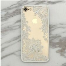 Lace Hot Paisley Mandala Henna Floral Cover Phone Case for Iphone6s/6p/7 /7p White iPhone 7 Plus