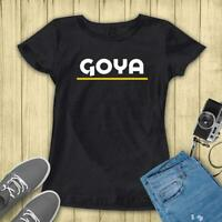 Goya Foods Yellow Under Line Gildan Classic 100% Cotton Black T-Shirt Size S-5XL
