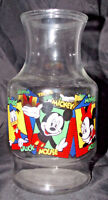 Mickey Mouse Carafe 9in Anchor Hocking Disney Tea Juice Glass Pitcher Vintage