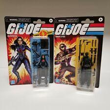 Hasbro 2020 Gi Joe Baroness & Snake Eyes Set 3.75� Retro Walmart Exclusive
