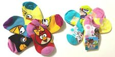 *New- Disney And Other Licensed - 11 Pairs Of Girl'S Socks For Shoe Size 4-7.5