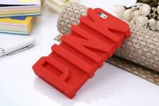 Fashion 3D PINK Letter Soft Silicone Rubber Case iPhone 6 plus 6s plus red girl