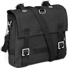 BRANDIT SMALL COTTON CANVAS SECURITY BAG ARMY SHOULDER PACK POLICE SATCHEL BLACK