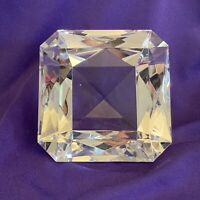 Crystal Glass Square Diamond ~ Cube ~ Paperweight ~ Gift