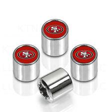 New NFL San Francisco 49ers Car Truck Chrome Finish Tire Valve Stem Caps Covers