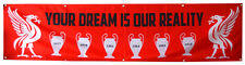 Liverpool Fc Flag Banner 2x8ft You'll Never Walk Alone Champions Leag US Shipper