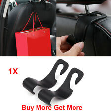 1x Black Car Seat Hook Purse bag Hanger Bag Organizer Holder Clip Accessories HD