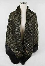 "Gucci Black Modal/Cashmere ""GUCCY"" Star Print Large Scarf Shawl 519687 1000"