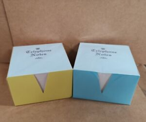 2 X PAPER  MEMO / OFFICE NOTES/JOTTER BLOCK  2 x 500 WHITE LOOSE SHEETS