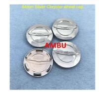 4pcs 54mm 64mm ABS Chrome Chrysler car logo emblem Wheel Center Hub Cap 2