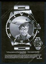 1975 Rolex Submariner watch great white shark JAWS Peter Benchley photo print ad