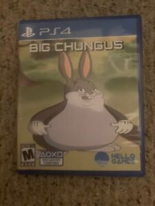 NEW HD COVER - Big Chungus PS4 Game Case ONLY - CUSTOM