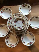 Vintage Imperial Summertime Rose Bone China Dinner Service 22 Pieces