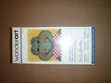"New listing Wonderart Latch Hook Kit 12""X12"" Froggy (New,#426186) & Boye Latch Hook"