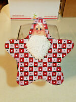 GENERAL STORE Counter Display CANDY Cookie PEANUT HandCrafted SANTA Jar LID Only